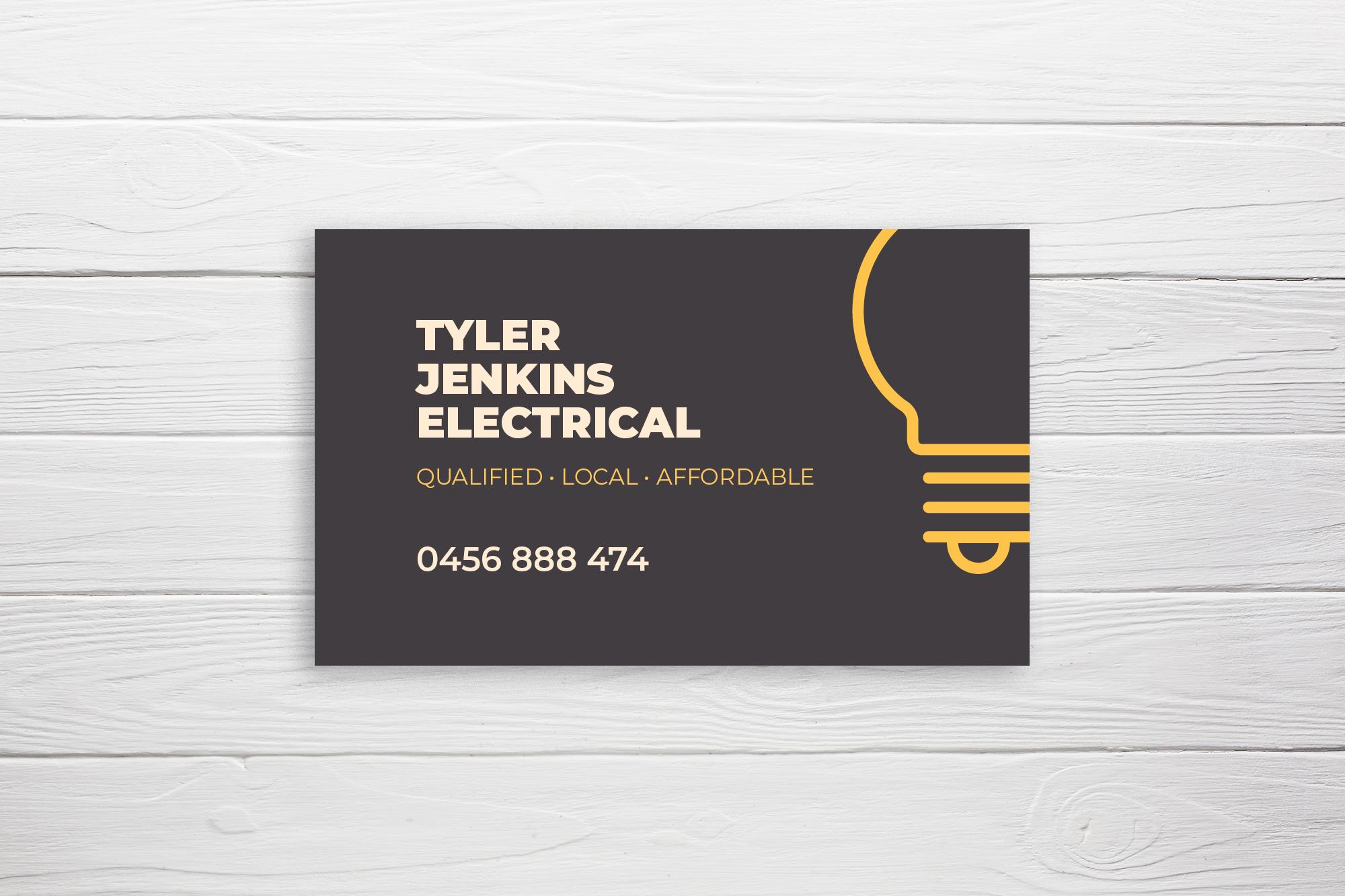 Business Card Design Electrician Business Card Online Business Cards Tradesperson Trade Business Card Business Card Design Minimal Printing Business Cards Business Card Design