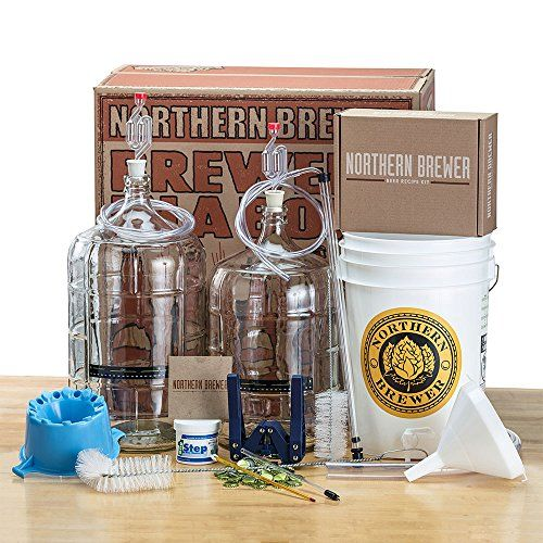 Deluxe Home Brewing Equipment Starter Kit Glass Carboys With