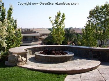 Concrete seat wall   Gas fire pits outdoor, Outdoor fire ...