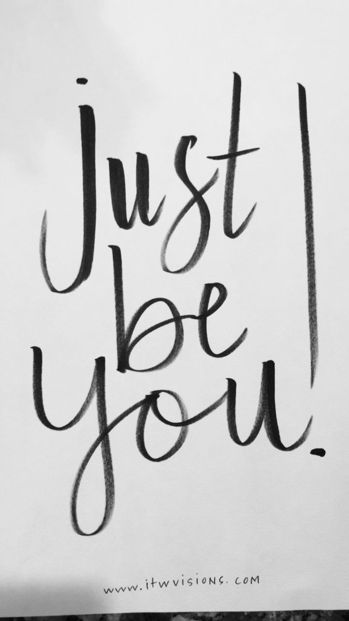 Just be you handlettered motivational quote motivational handlettered motivational quote magicingreecefo Choice Image