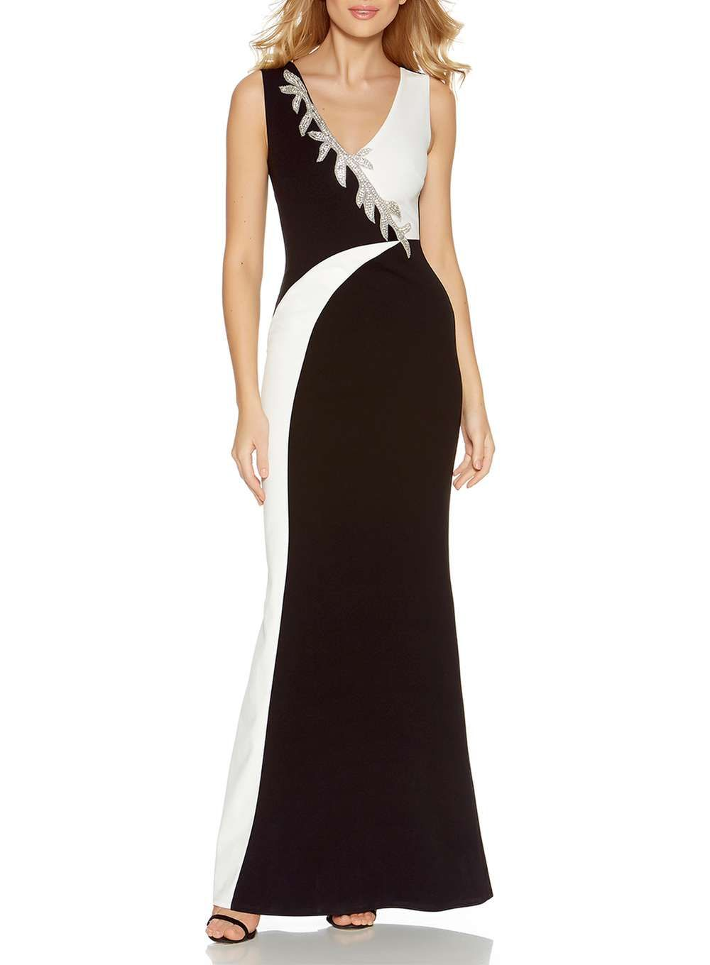 Quiz black diamante maxi dress pinterest maxi dresses product