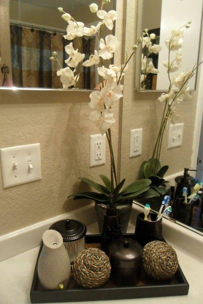 badezimmer deko badezimmer gestalten mit blumen und accessoires ...