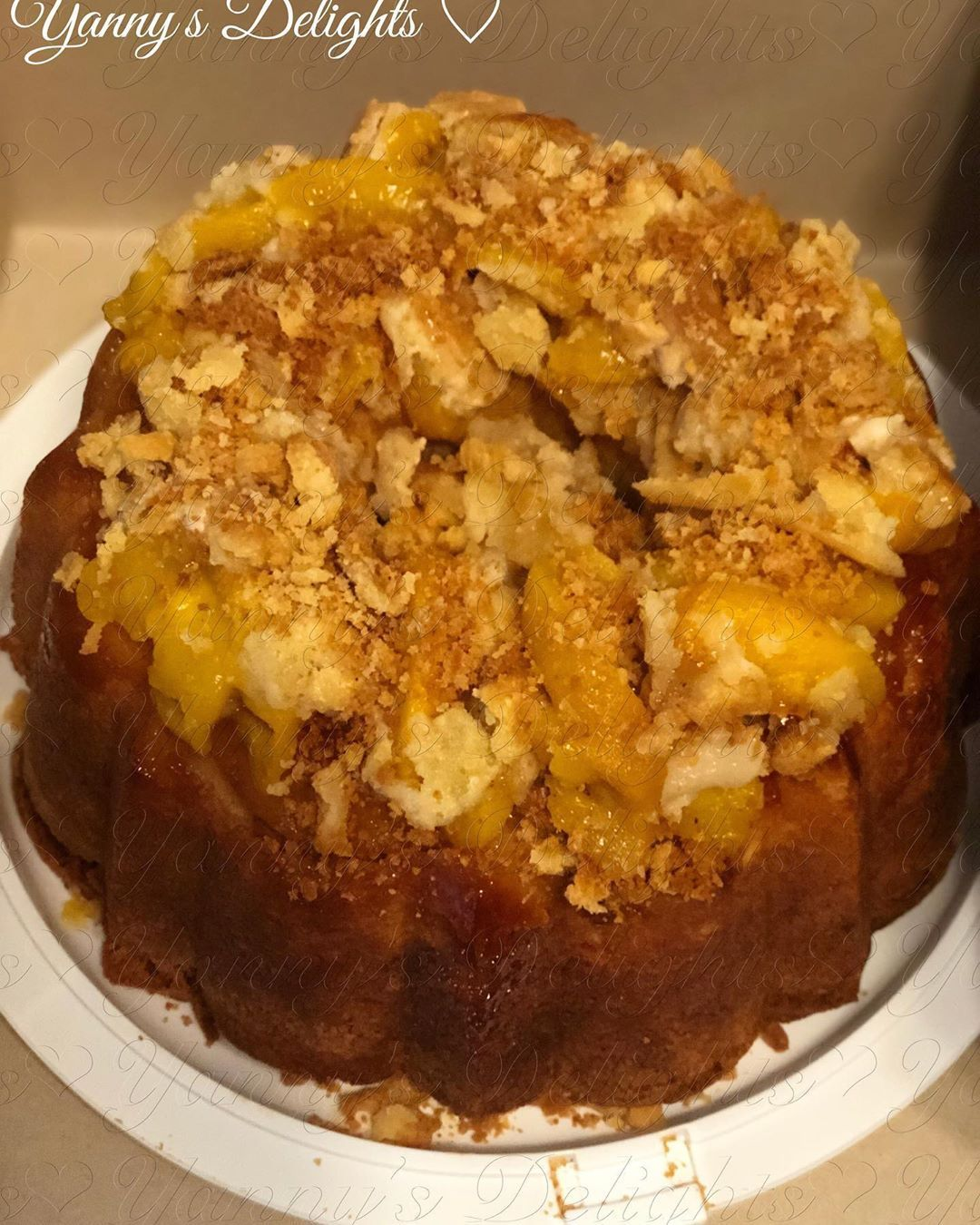 My Version Of The Peach Cobbler Pound Cake Without A Glaze My Version Of The Peach Cobbler Pound Cake Without A Glaze #peachcobblerpoundcake