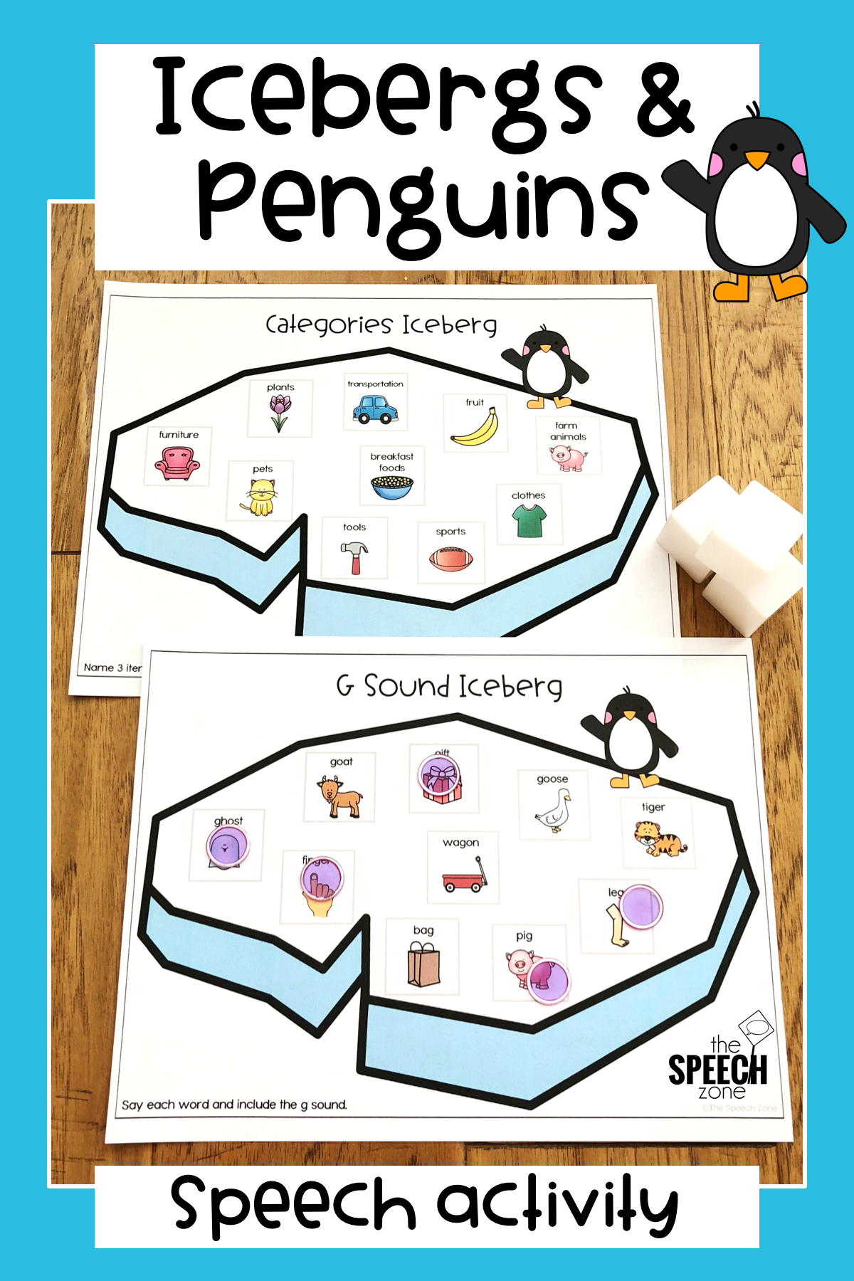 Winter Iceberg And Penguin Speech And Language Worksheets