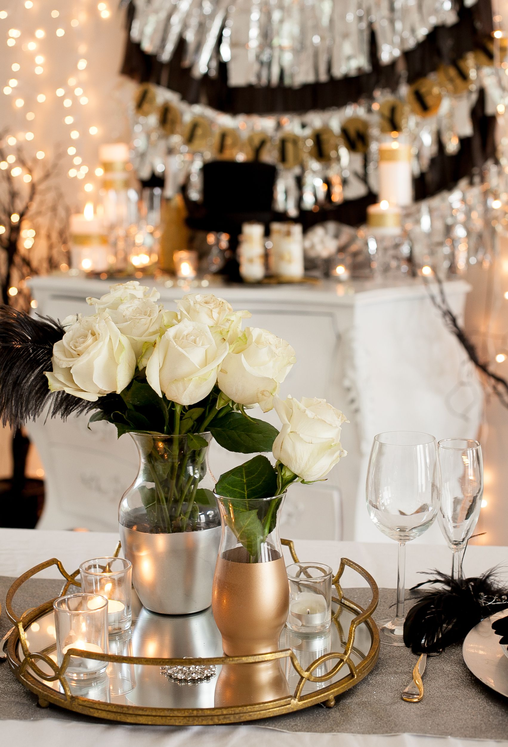 New Years Dinner Party Ideas Part - 16: New Yearu0027s Eve Party Ideas: NYE Party Decorating