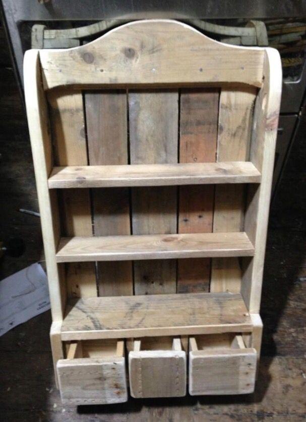 Reclaimed wood. Spice rack   Pallets   Wood shelves ...