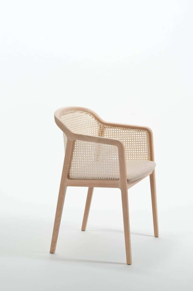 Vienna Armchair by Colé, Modern Design in Wood and Straw ...