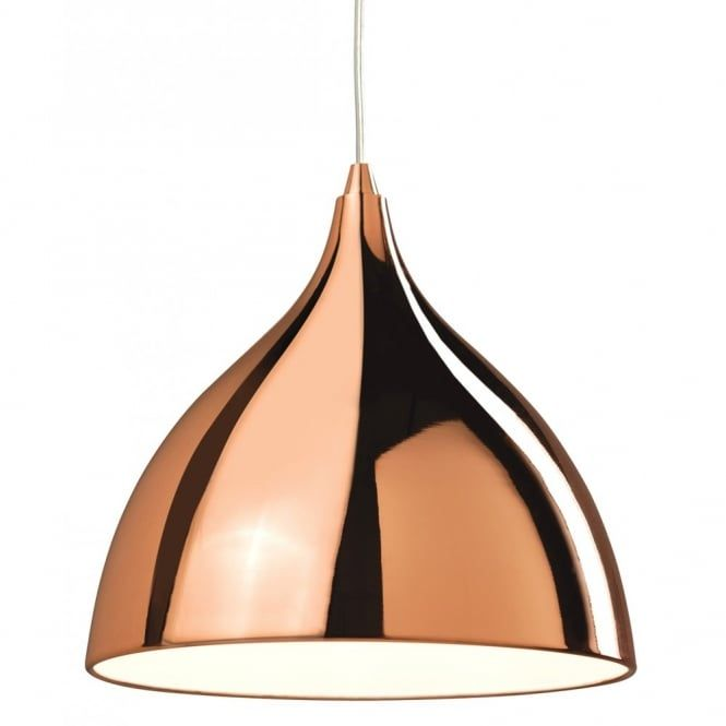 A ceiling pendant light with a copper finish suitable for use in any retro setting and  sc 1 st  Pinterest & A ceiling pendant light with a copper finish suitable for use in ... azcodes.com