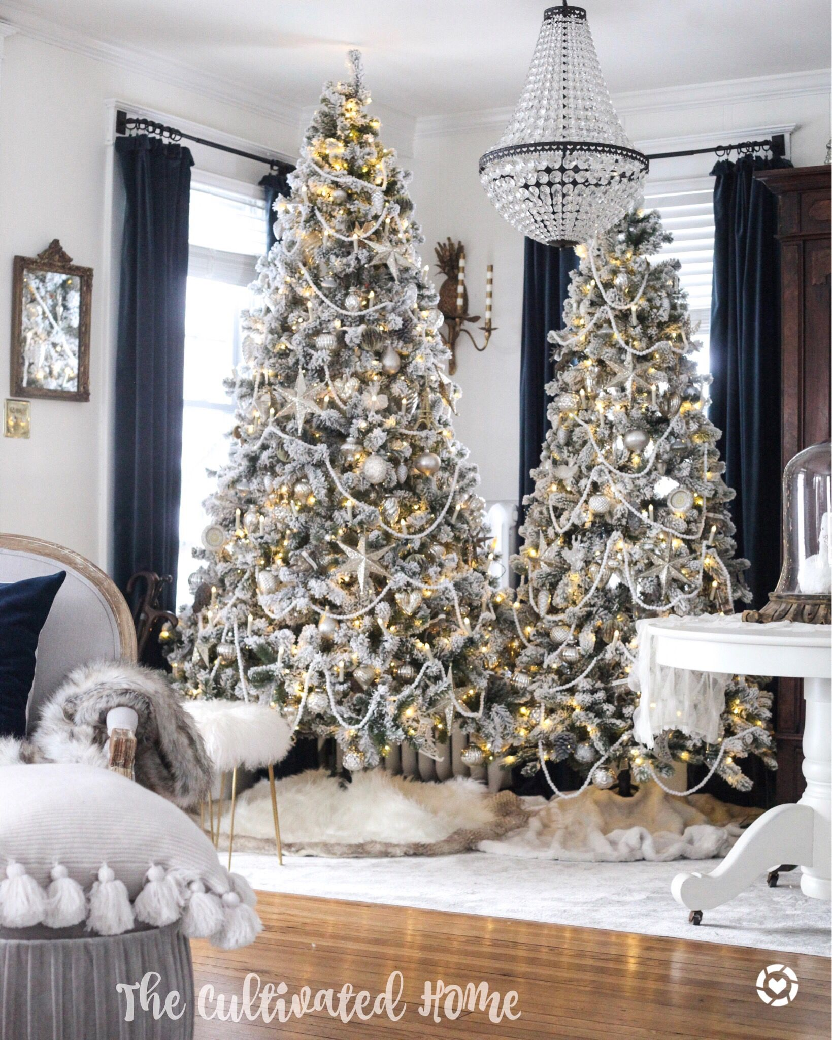 layering is so fun why not 2 trees christmas decorating rh pinterest com