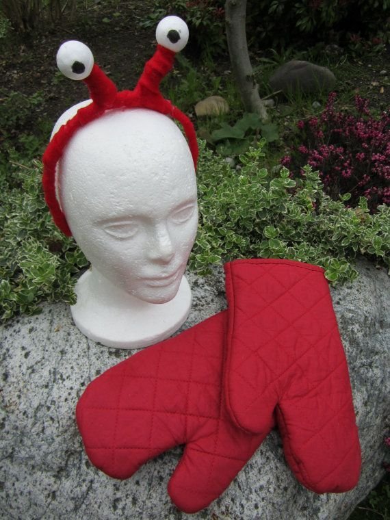 Crab costume google search stephanie pinterest crab upcycled clothing lobster costume alice in wonderland red felt covered headband solutioingenieria Images