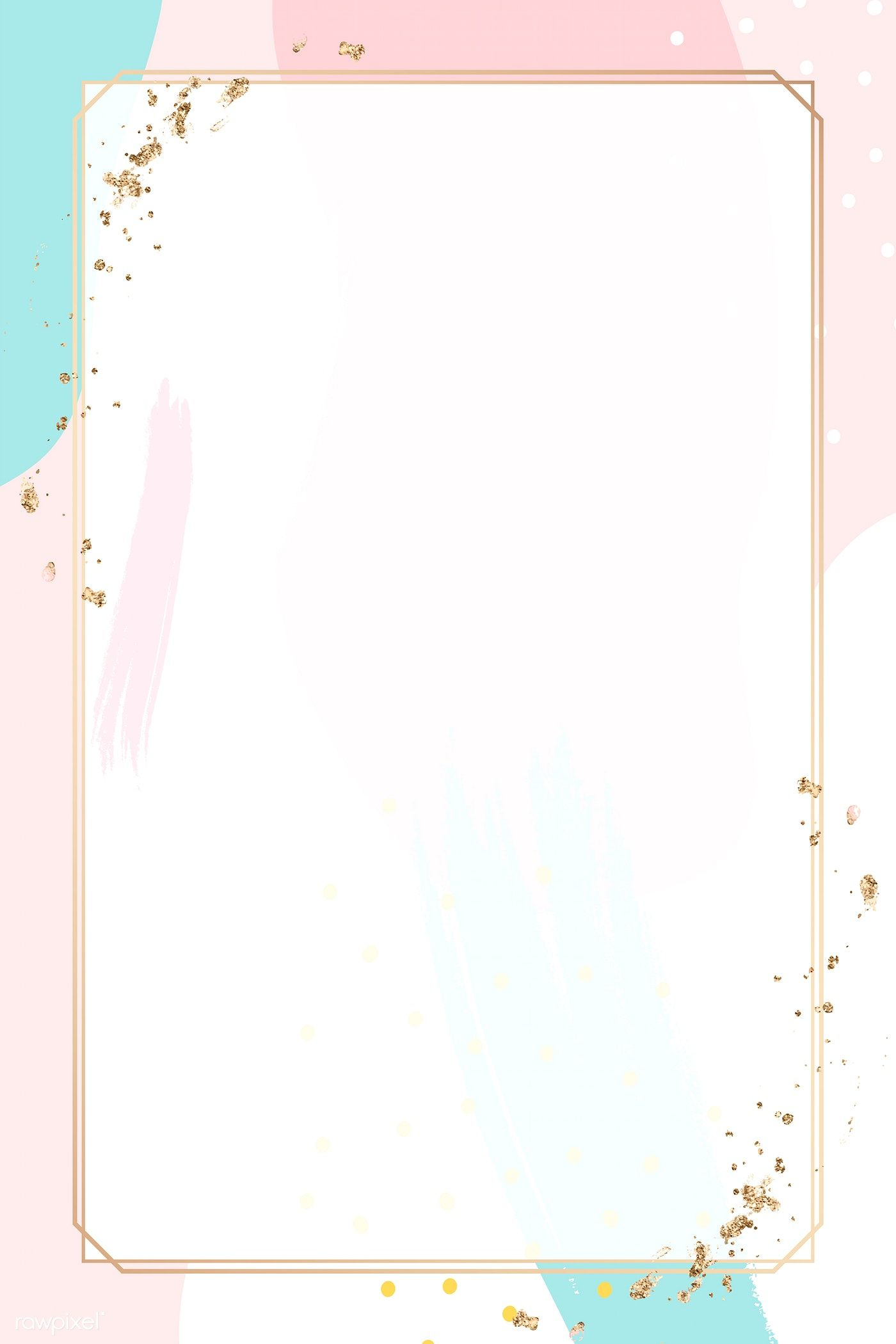 Download Premium Vector Of Rectangle Gold Frame On Colorful Memphis Vector Background Pattern Framed Wallpaper Flower Background Wallpaper