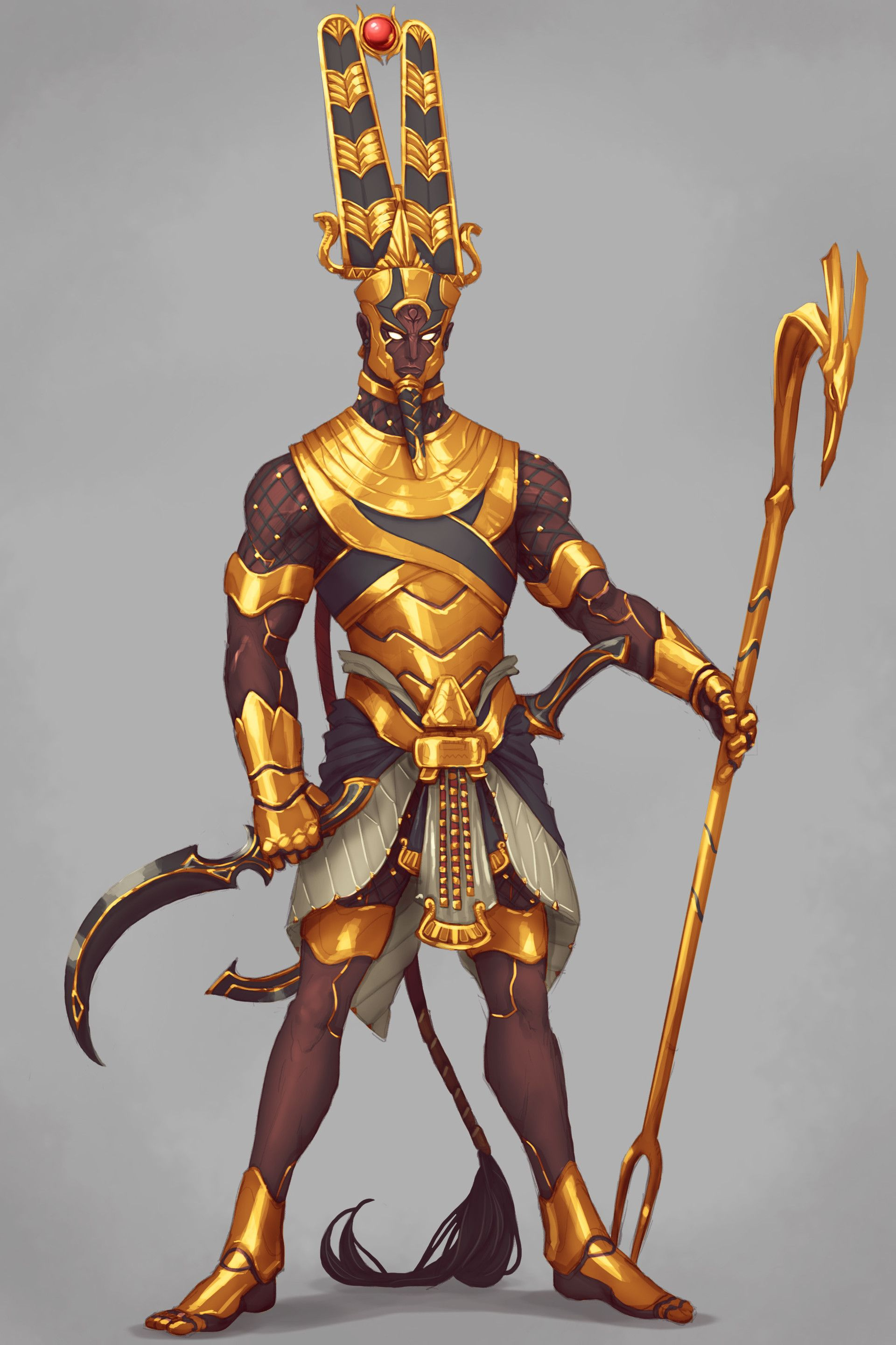 Fantasy Art Egyptian Weapons