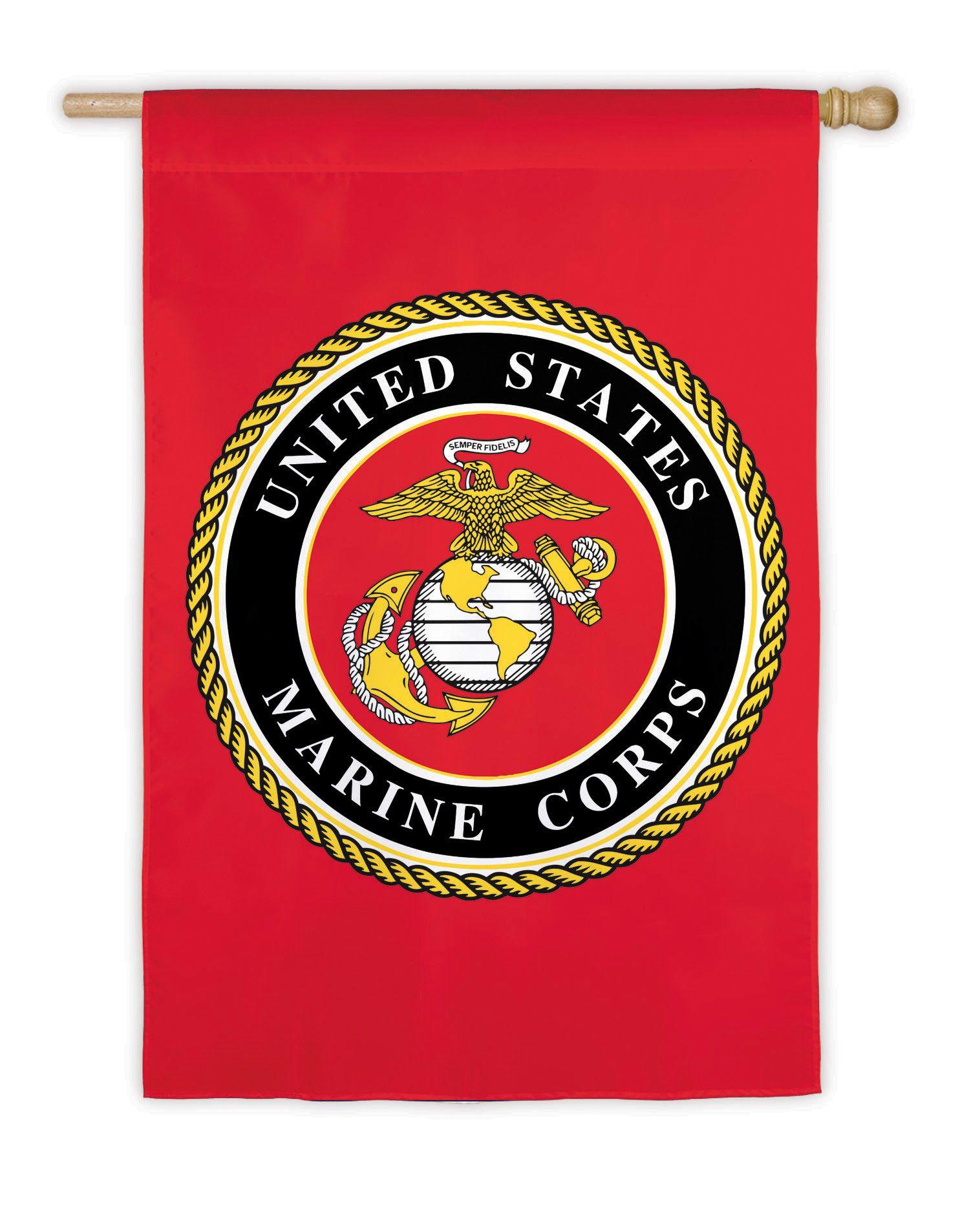 Marine Corps Flag Marine corps, Marine flag, Military flag
