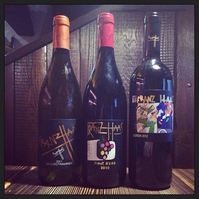 FranzHaas gewurztraminer Pinot noir lagrein alto Adige  Al reolt cantina tipica  Bagolino Winelover