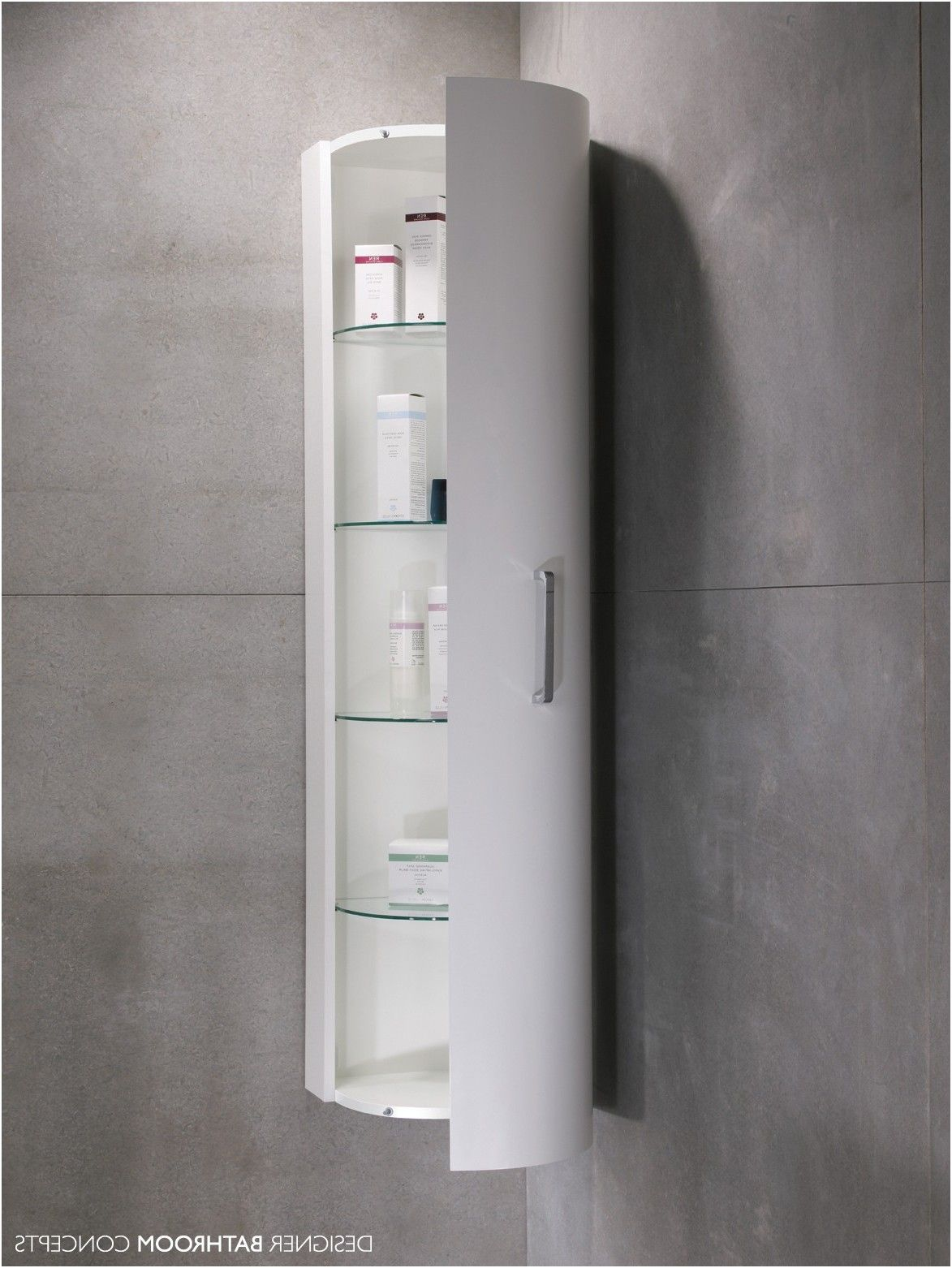 Lovely White High Gloss Bathroom Cabinets