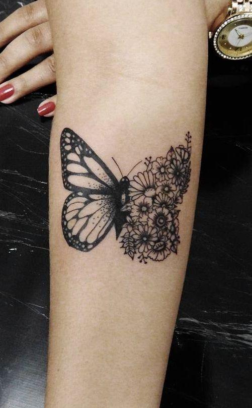As 50 Melhores Tatuagens De Borboletas Tats Tattoos border=