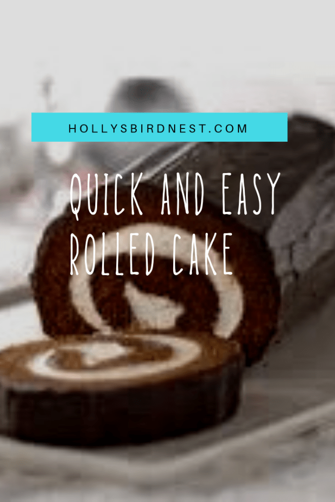 quick and easy boxed rolled cake | Holly's Bird Ne