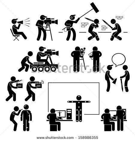 S N G O Camera Cartoon Stick Figures Pictogram