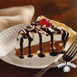 Malt Shoppe Chocolate Mousse Pie from Eagle Brand®