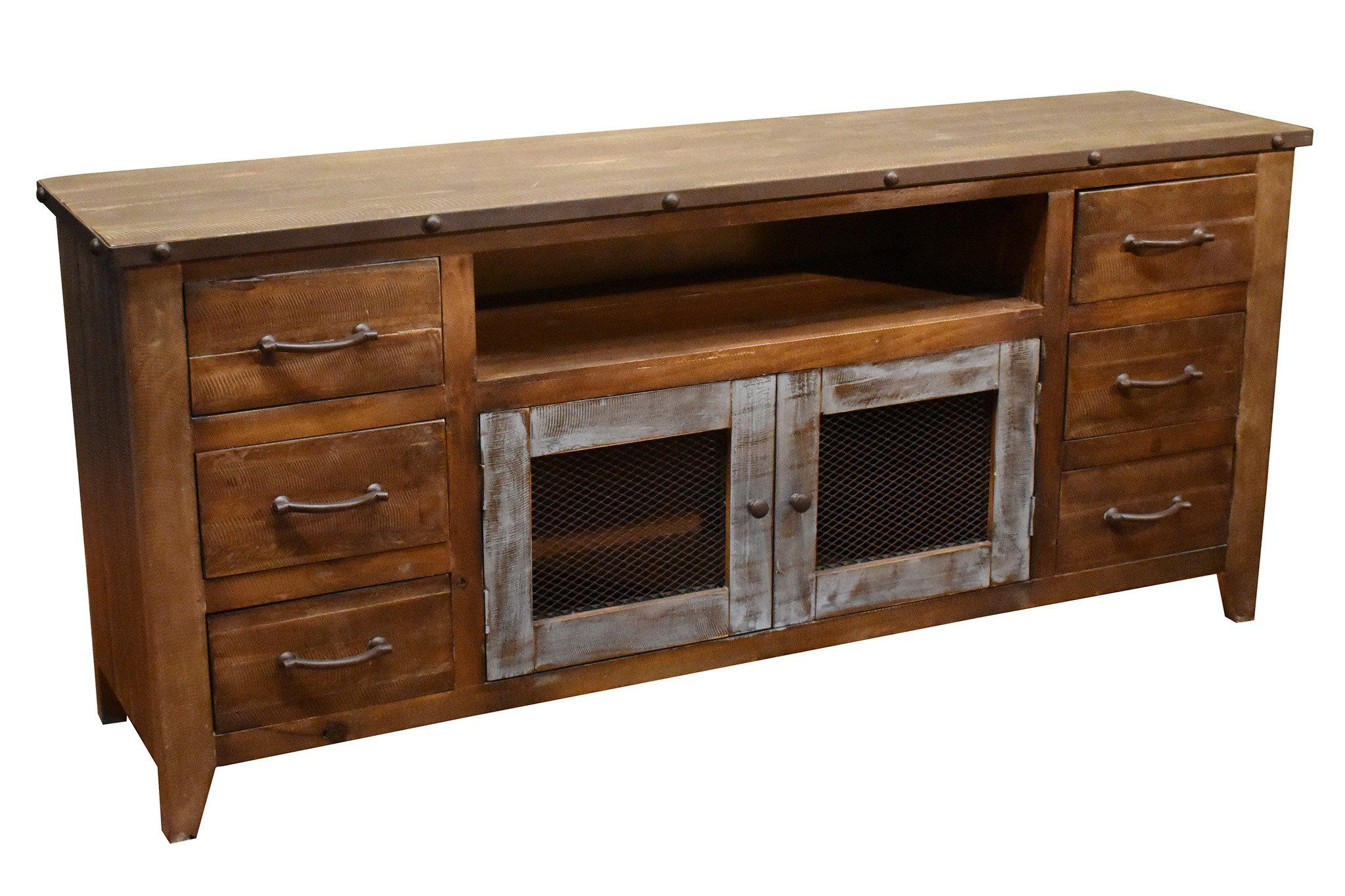 """Bayview TV Stand 72"""" Solid wood tv stand, Tv stand for"""