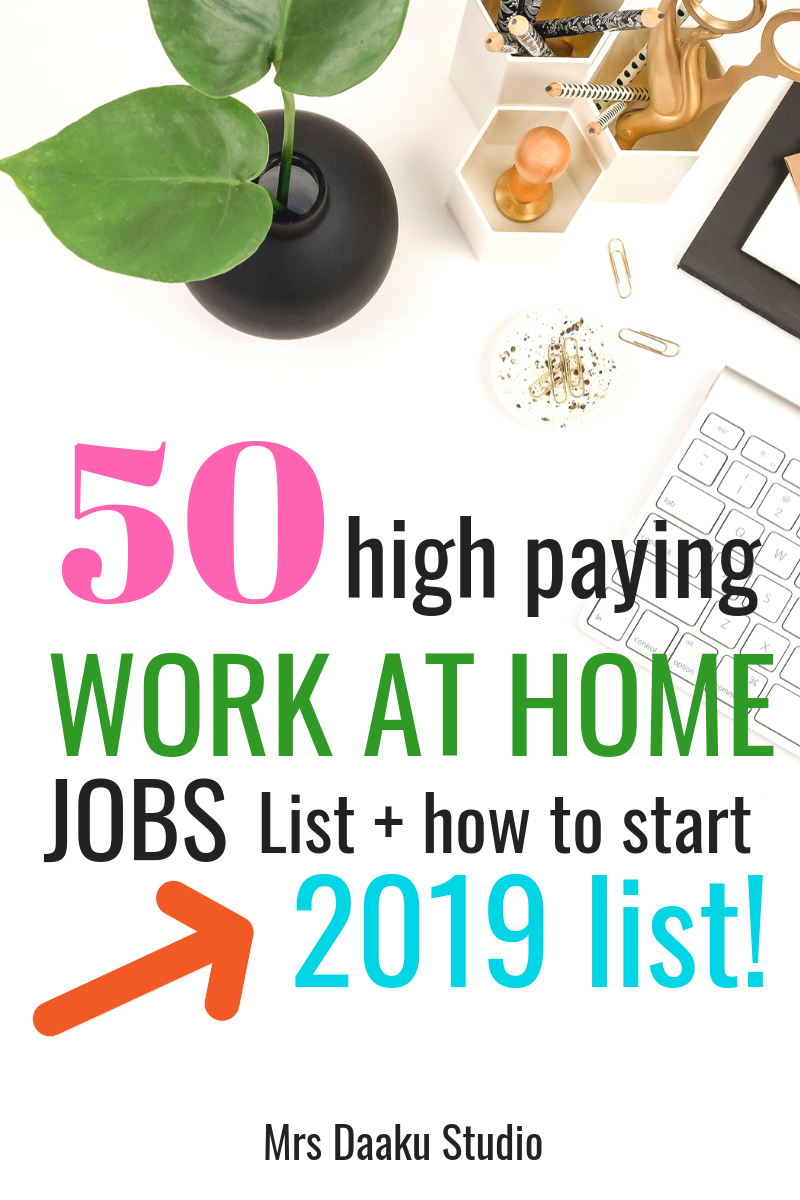 Work At Home Jobs 2020.50 Work From Home Jobs That Pay Well In 2020 5000 Mo And