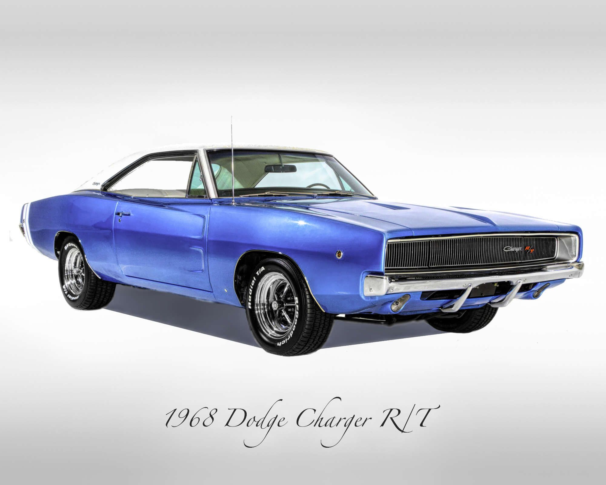 Classic Cars – 1968 Dodge Charger R/T – Muscle Car – Print