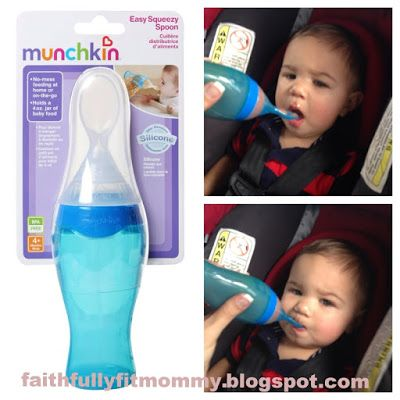 Faithfully Fit Mommy: Munchkin Easy Squeezy Spoon: Product Review