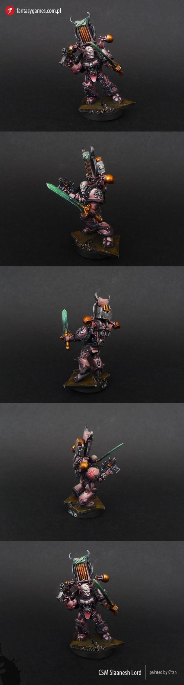 40k - Chaos Space Marine Slaneesh Lord by C'Tan