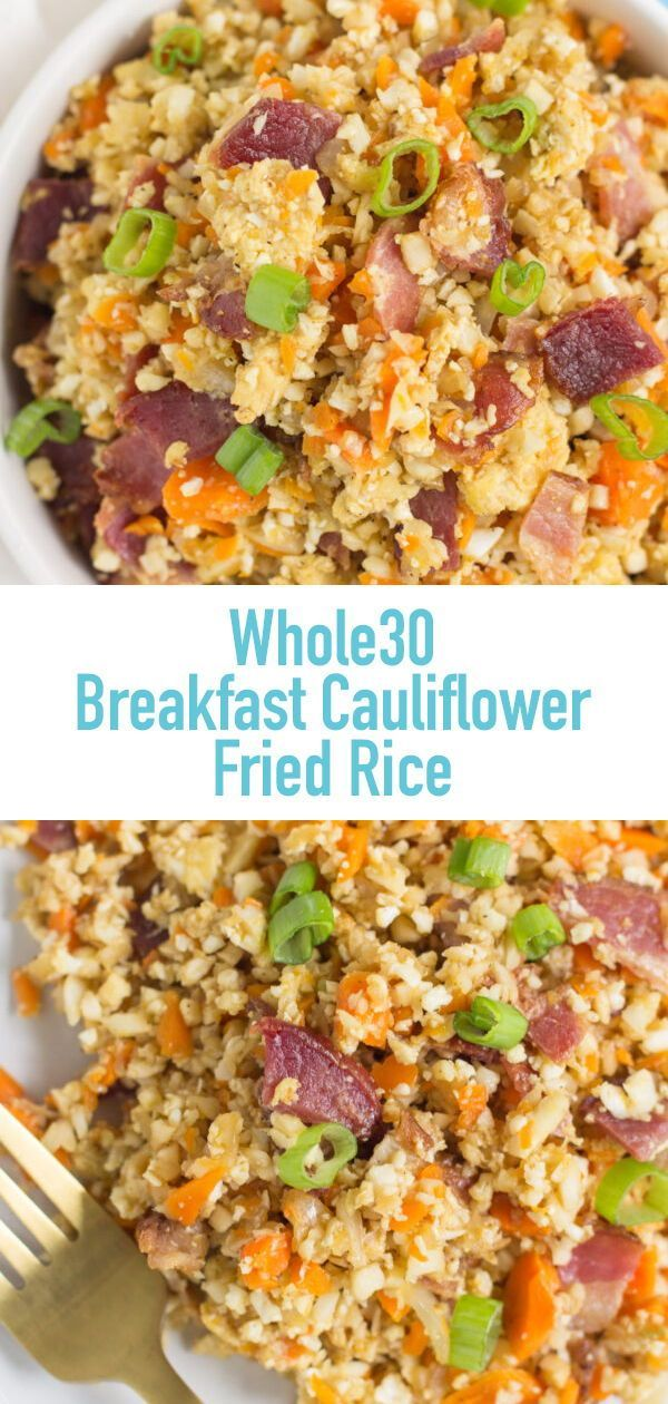 Frühstück Blumenkohl Gebratener Reis ist ein köstlicher Low Carb, ... - -