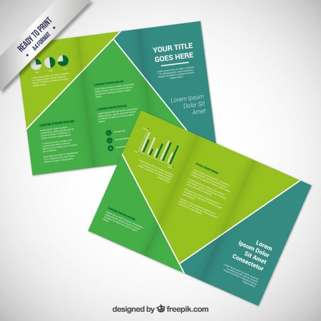 Brochure Template With A Smartphone  Freepik    Vector