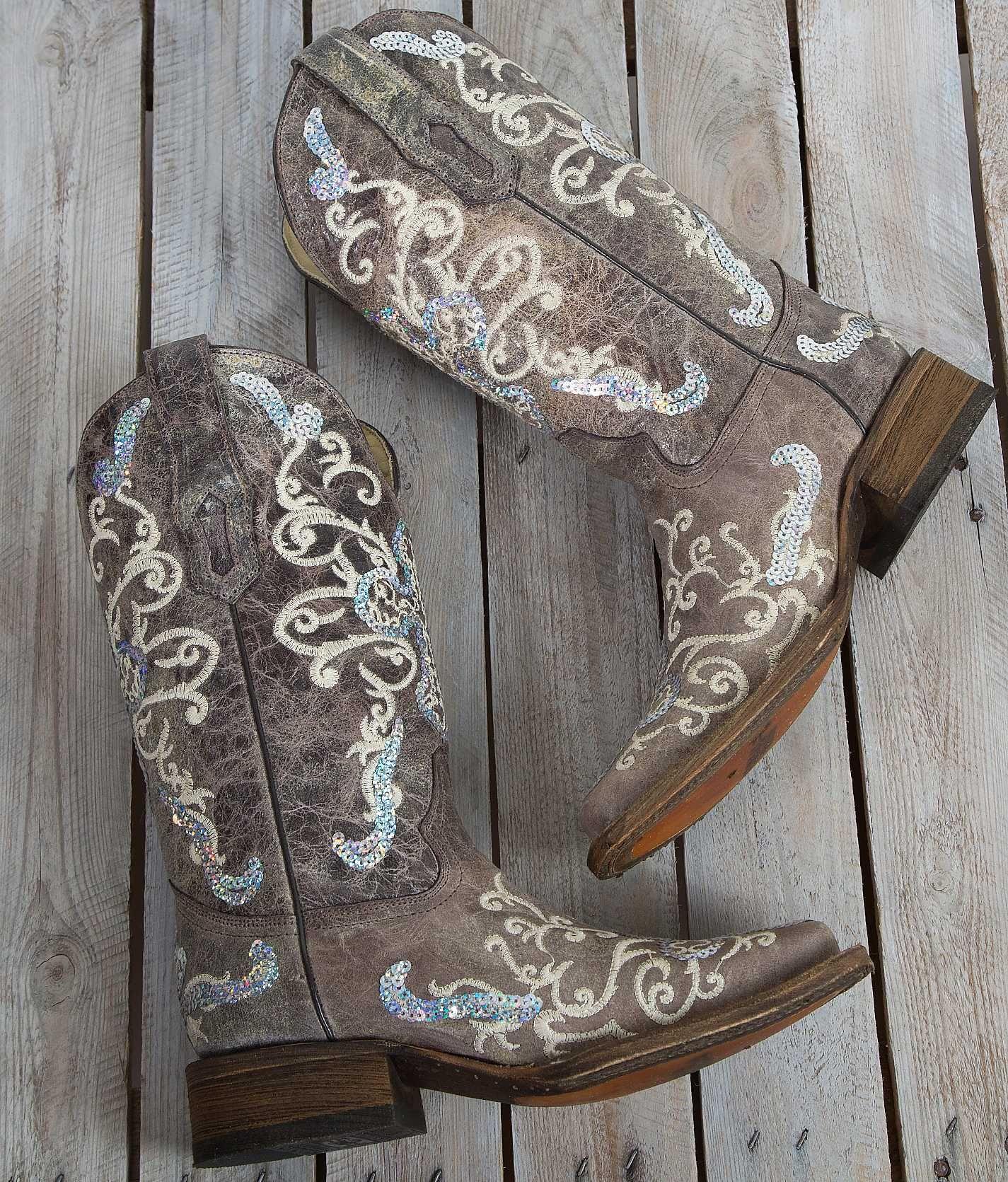 Corral Sequin Square Toe Cowboy Boot Women S Shoes