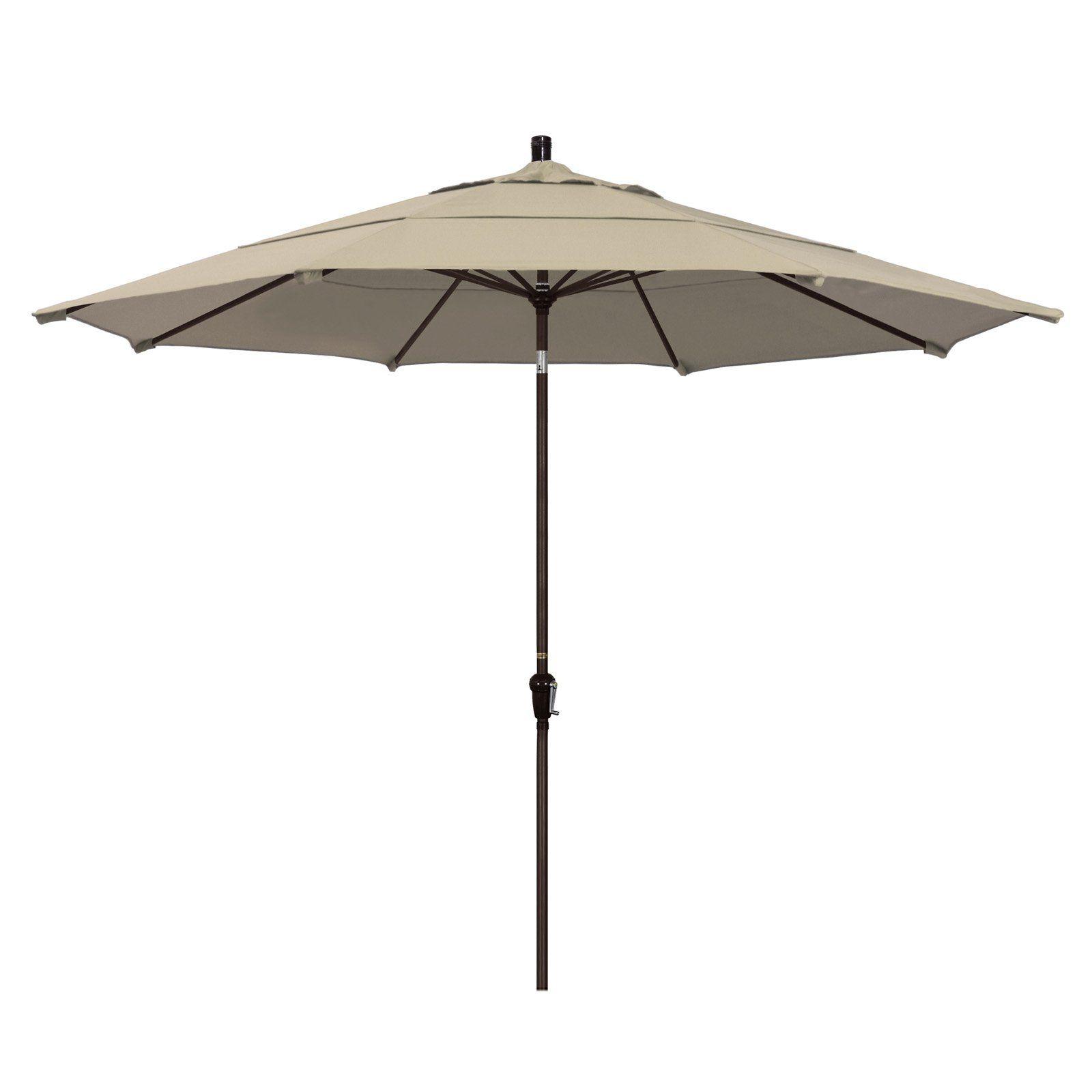 Outdoor California Umbrella 11 Ft Aluminum Auto Tilt Pacifica
