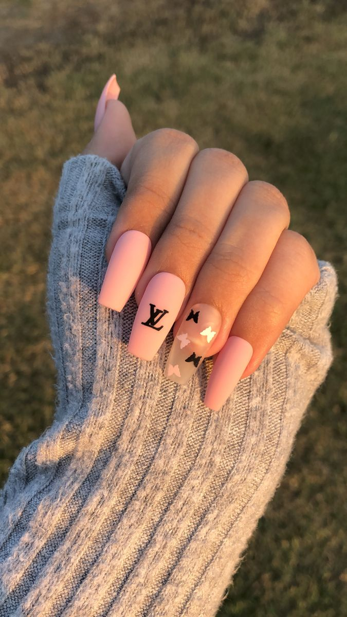 louis vuitton nails | medium ballerina