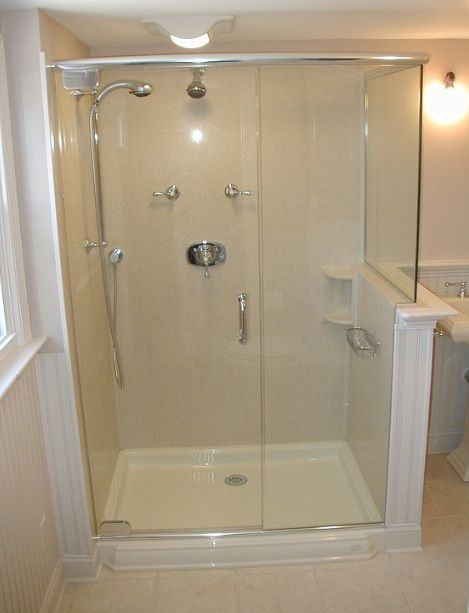 Various bathroom shower stall ideas you can get in 2019 - Shower stall designs small bathrooms ...