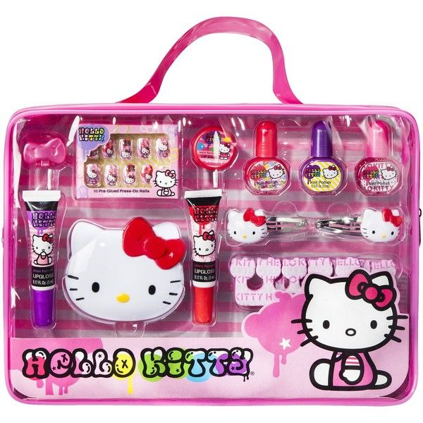 8b1707819 Hello Kitty Cosmetic Set - 23 pc ($9.99) ❤ liked on Polyvore featuring  beauty products, hello kitty, makeup and makeup sets