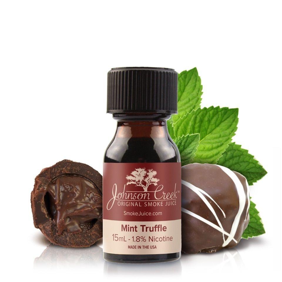 Mint Truffle Johnson Creek E-Juice: Indulge in the savory flavors of this  semi-dark chocolate and peppermint blend. The warm chocolate flavors of  mint ...