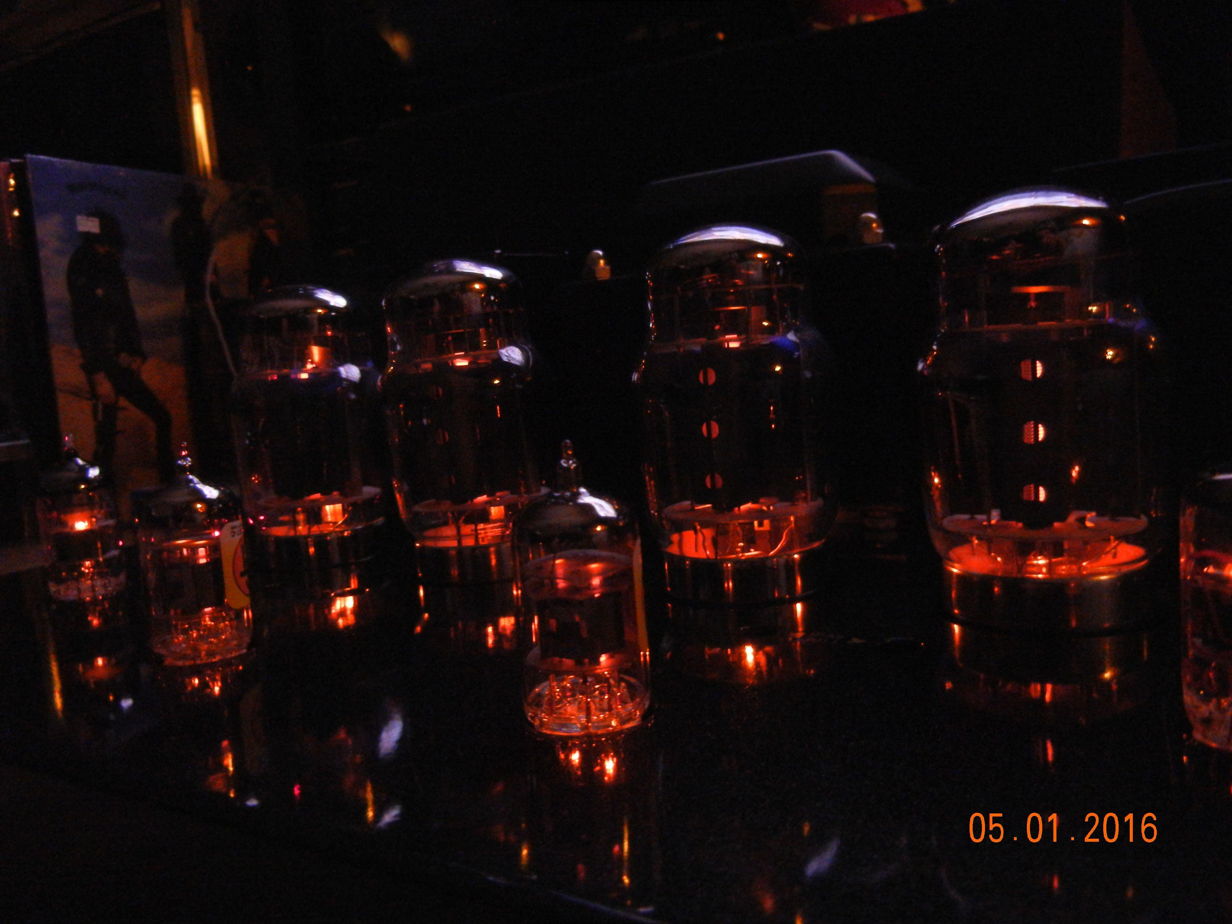 Gold Lion KT88 tubes, Mullard tubes, Electro-Harmonics tubes