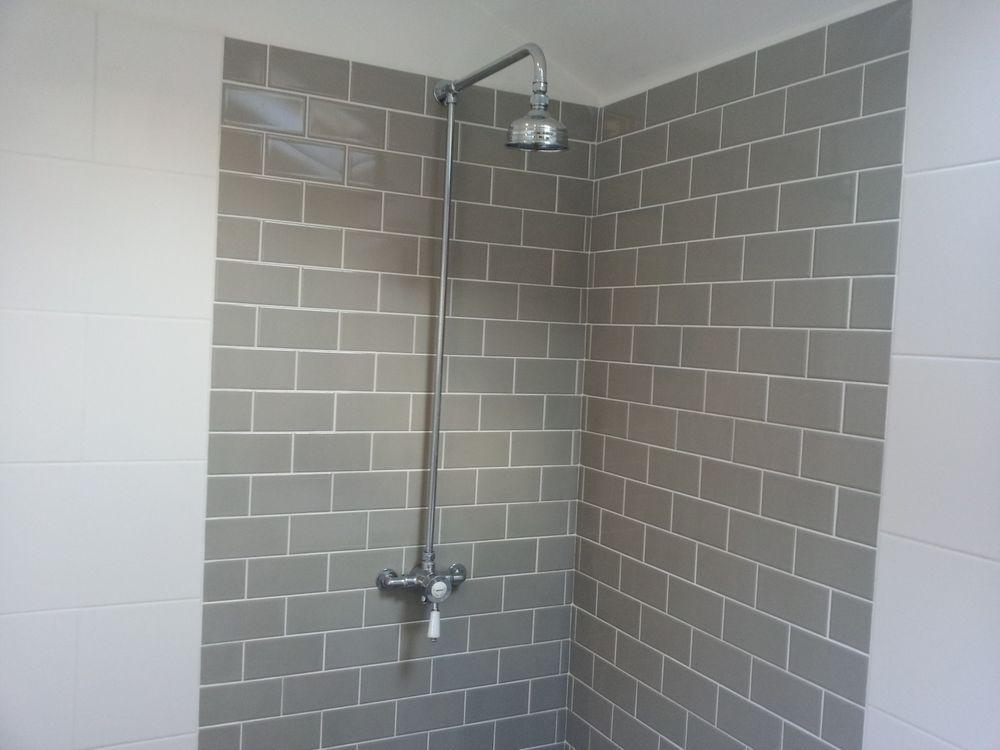Grey Crackle Glaze Tiles Similar To Fired Earth Brand Shower Room Crackle Glaze Tiles Large White Tiles