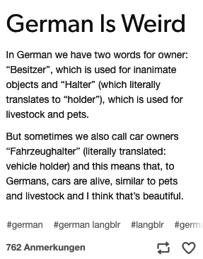 Photo of German words (or words) usually have two meanings. That doesn't always make it easier.