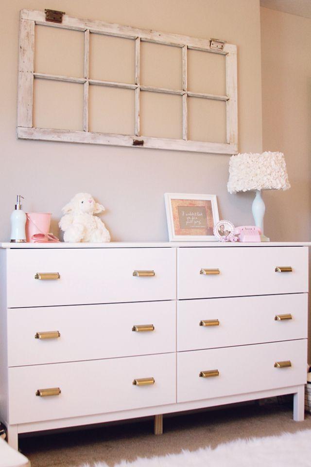diy ikea hack dresser. Super Easy Ikea Hack- Tarva Dresser Painted With Brass Drawer Pulls Diy Hack I