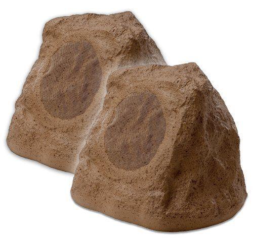 Pair Sandstone Brown OSD Audio RS670 High Definition Outdoor Rock Speaker