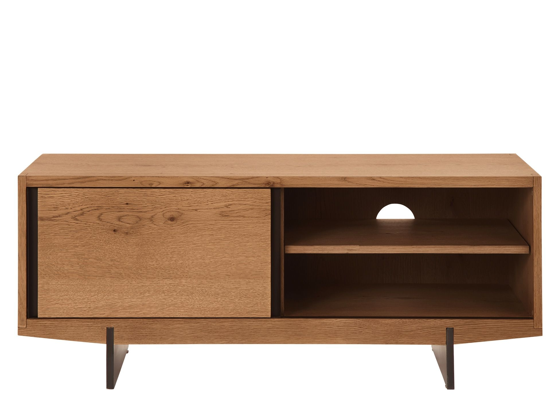 Ringo Media Unit Dark Stain Oak From Made Com Dark Wood New  # Meuble Tv A Roulettes Fly