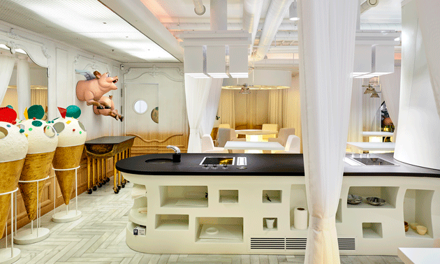 Revestimientos De Cosentino En El Restaurante Diverxo Interiores Diverxo Diseño De Interiores