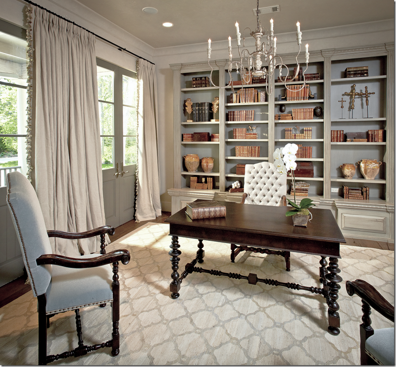 Custom Home Office Designs Classy Design Willams Std: Neutral Drapes Pooling On The Floor With A Simple Wrought