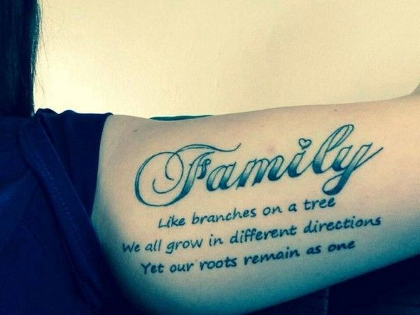 110 Short Inspirational Tattoo Quotes Ideas with Pictures | Family ...