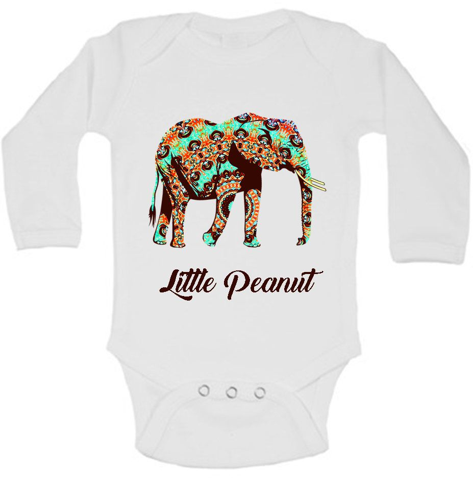 Little Peanut Baby Shower Elephant Outfit Boho Baby Clothes