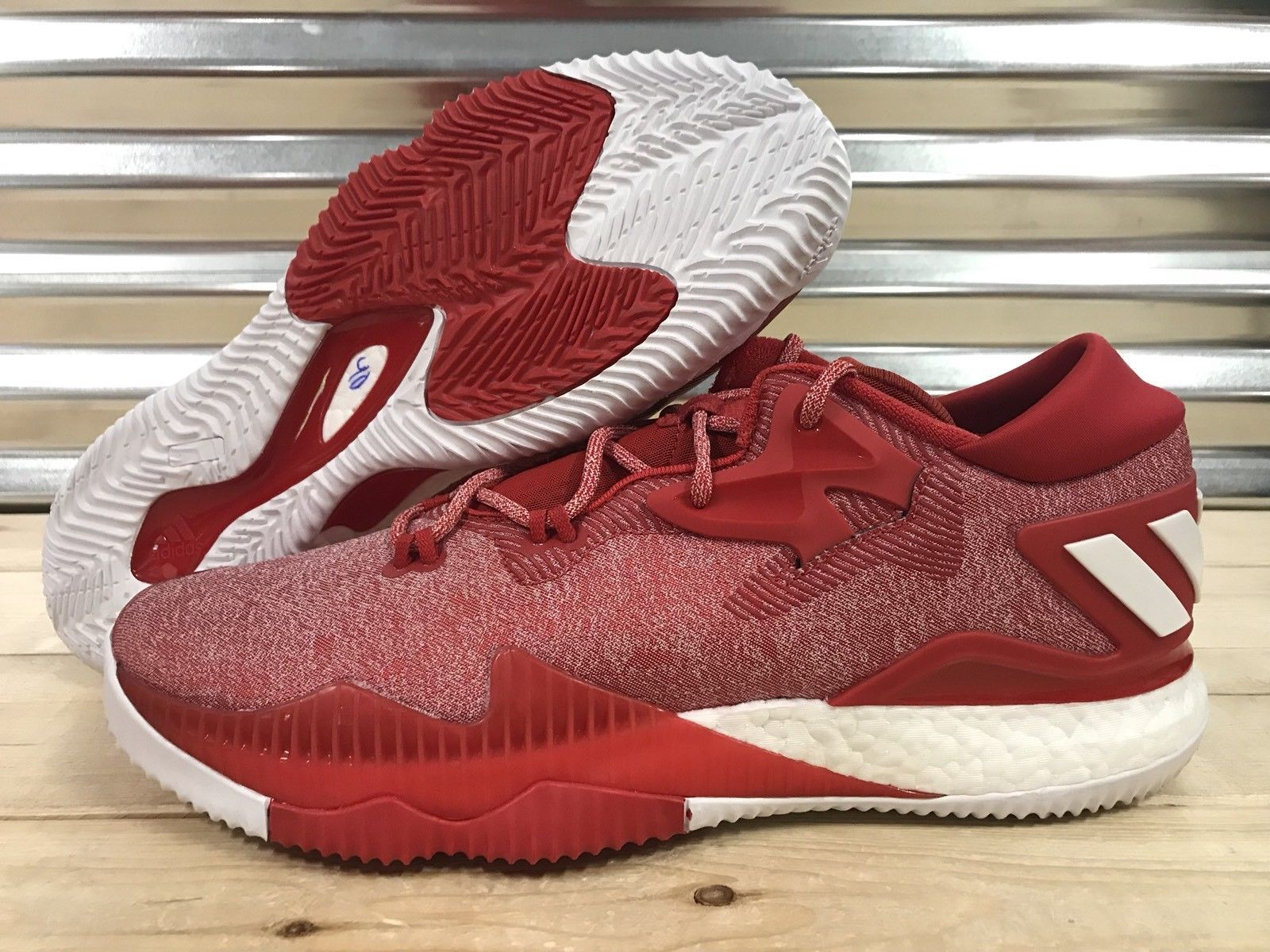 Adidas SM CL Crazylight Boost Basketball Shoes Red White Candy Cane ( B42961 )