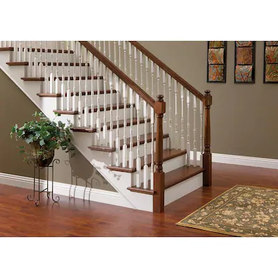 Best 3 In X 48 In Unfinished Red Oak Wood Stair Newel Post At 400 x 300