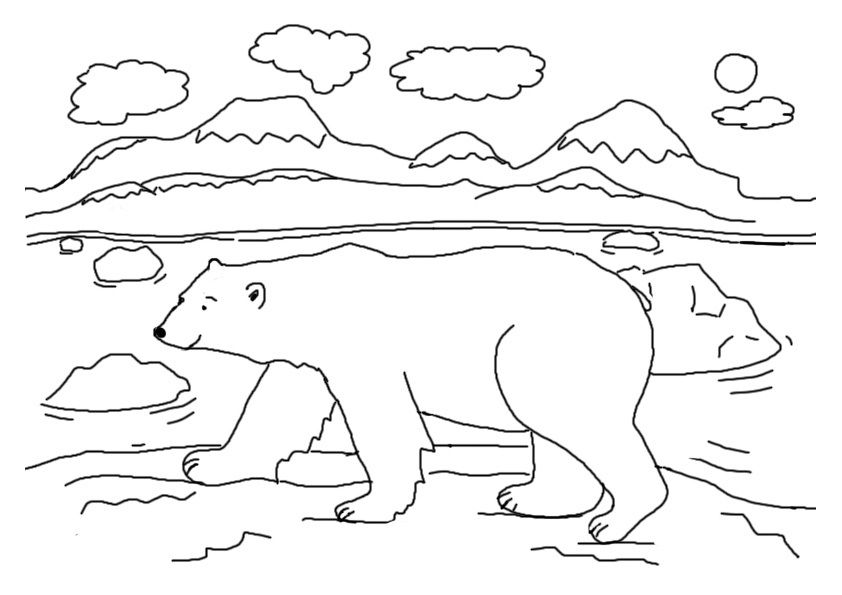 Free Printable Polar Bear Coloring Pages For Kids Polar Bear