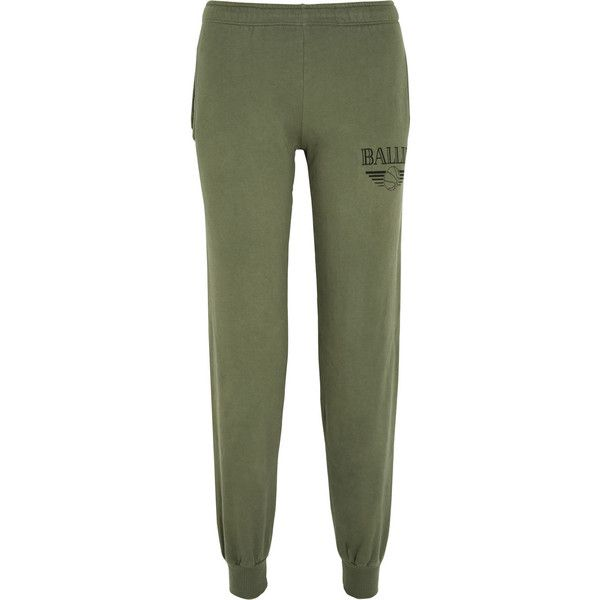 Brian Lichtenberg Basketballin cotton-jersey track pants ($43) ❤ liked on Polyvore featuring activewear, activewear pants, green, green jersey, cotton jersey, green track pants, brian lichtenberg and track pants